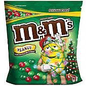 M&M Peanut Christmas Mix ~ 56oz. Bag