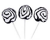 Petite Hypno Pops Black & White Swirled Lollipops ~ 100 Pcs