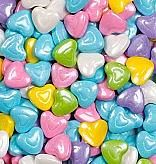 Celebration Shimmer Pastel Candy Hearts ~ 2lbs