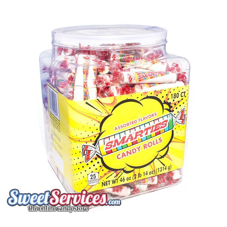 CeDe Smarties Candy Rolls in 180ct Jar