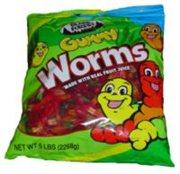 Black Forest Gummy Worms ~ 3lb Bag