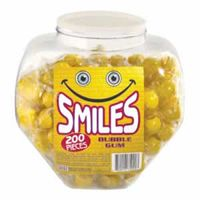 Smiles Gum Balls 200 Count Jar