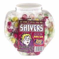Shivers Gum Balls 200 Count Jar