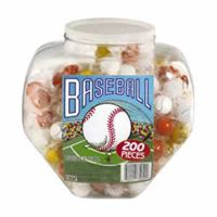 Baseball Gum Balls 200 Count Jar