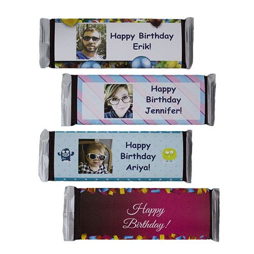 Personalized Happy Birthday Candy Bars